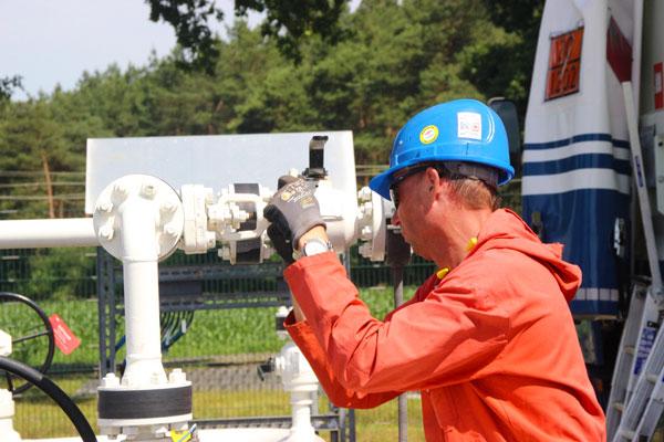 Entleerung eines Pipelineabschnittes